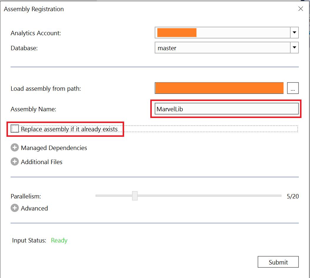 Registering assemblies in Azure Data Lake Analytics