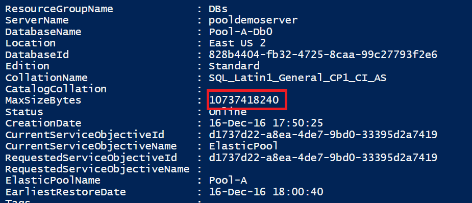 Azure SQL Elastic Pool – Database Size – Vincent-Philippe Lauzon's